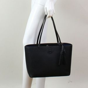 McGraw black tote with tassel